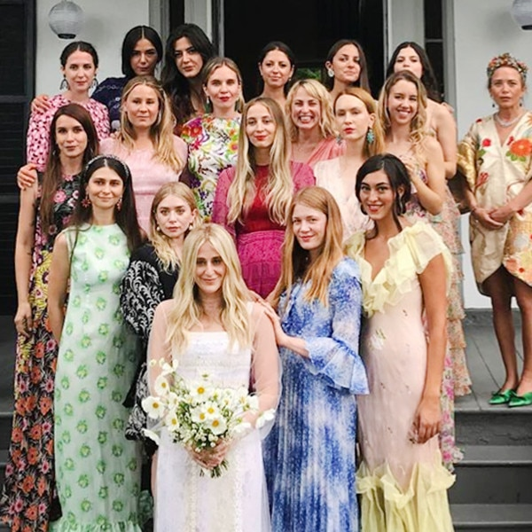 Mary-Kate & Ashley Olsen-Inspired Bridesmaid Dresses