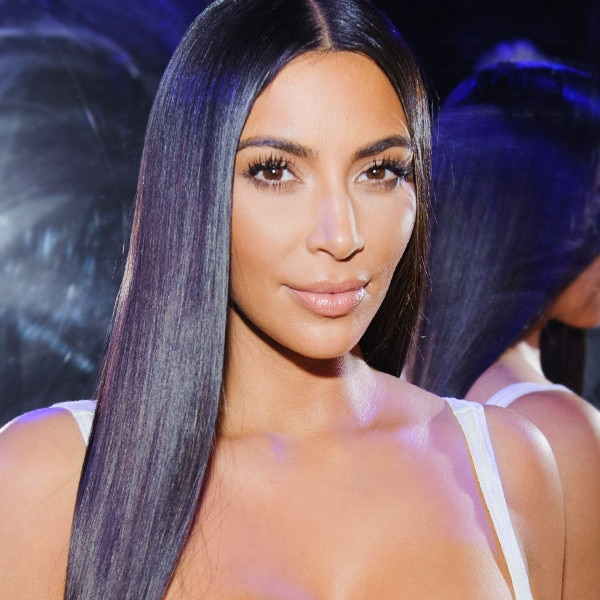 How Kim Kardashian's Hairstylist Achieves Straight, Sleek Hair