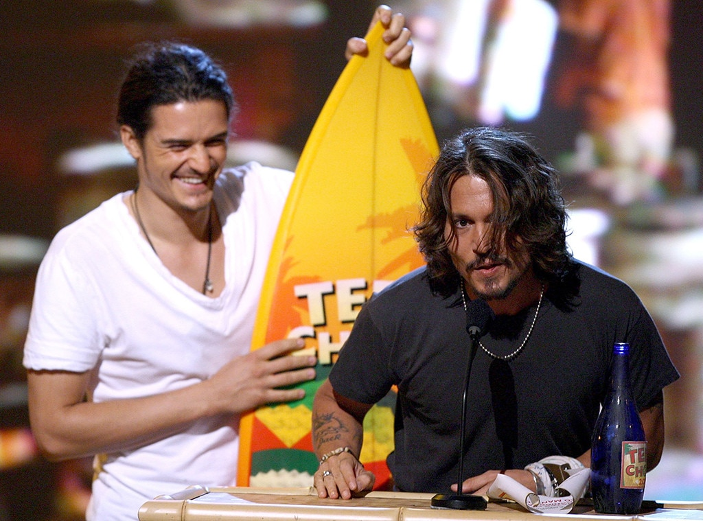 Orlando Bloom And Johnny Depp From Stars Win Their First
