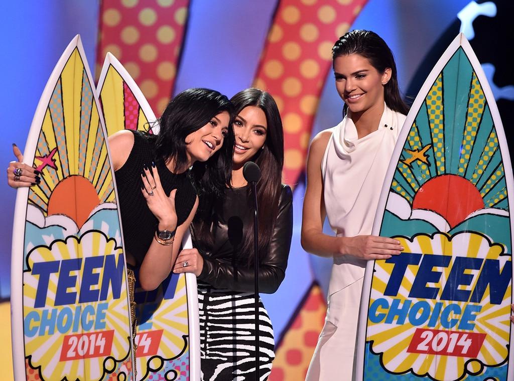 Kendall Jenner, Kim Kardashian, Kylie Jenner, Teen Choice Awards