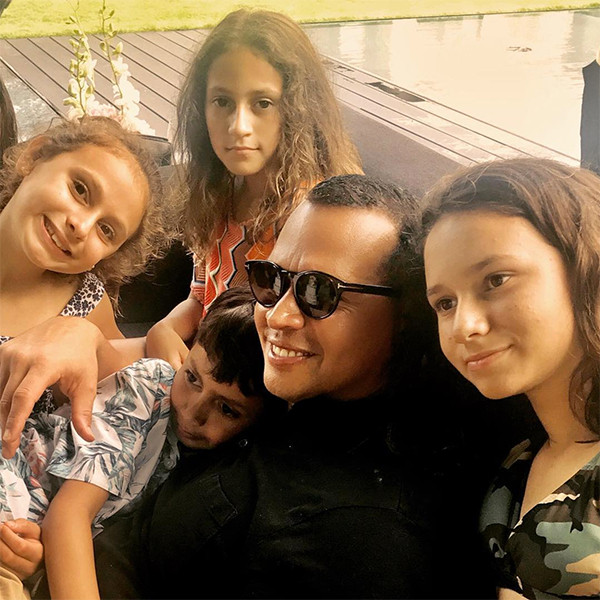 Les photos de famille recomposée de Jennifer Lopez et Alex Rodriguez