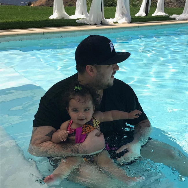 Rob Kardashian's Photos With Baby Dream In The Pool Will Melt Your Heart