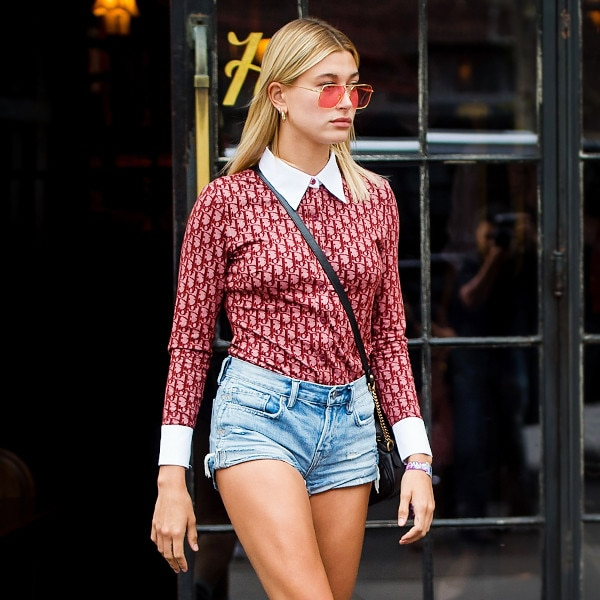 Hailey Baldwin-Inspired Jean Shorts