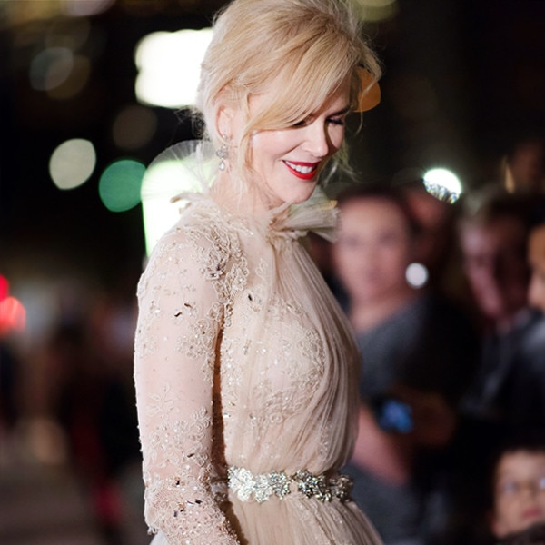 Nicole Kidman's Nude Red Carpet Dress