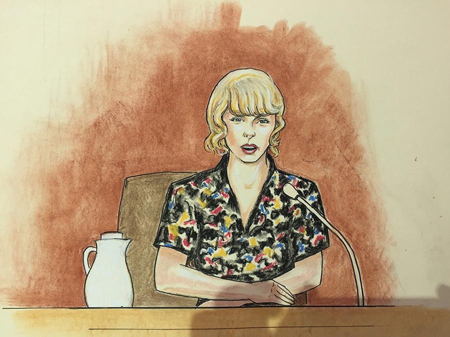 Taylor Swift, Court Sketch