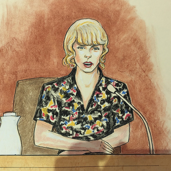 Taylor Swift, Court Sketch