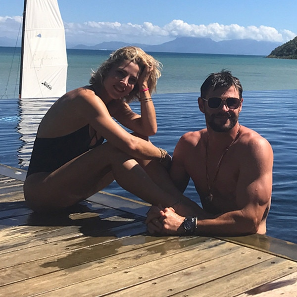 Chris Hemsworth's 34th Birthday on Orpheus Island