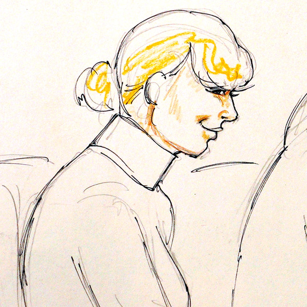 Taylor Swift, Andrea, Jesse Schaudies, Court Sketch