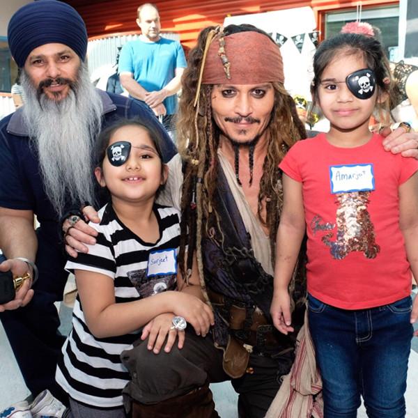Johnny Depp Dresses Up as Captain Jack Sparrow to Surprise Sick Children
