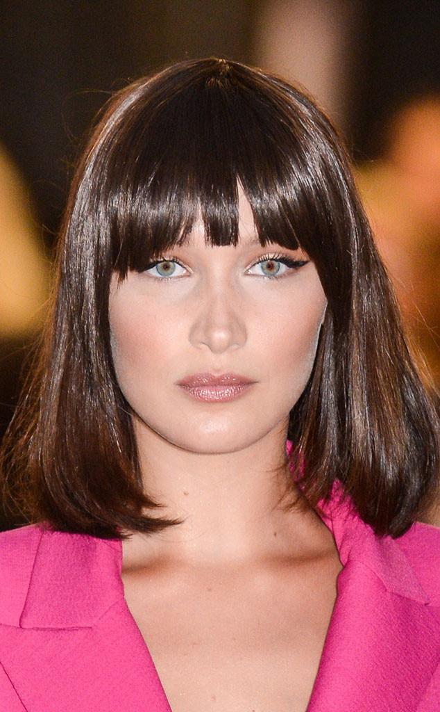 The Best Celebrity Bangs Fringe For Every Face Shape E