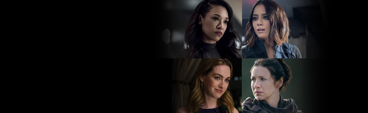 Girl on Top, Caitriona Balfe, Outlander, Chloe Bennet, Agents of Shield, Jamie Clayton, Sense8, Candice Patton, The Flash