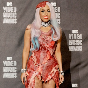 Lady Gaga, MTV Video Music Awards, Meat Dress, Worst Dressed