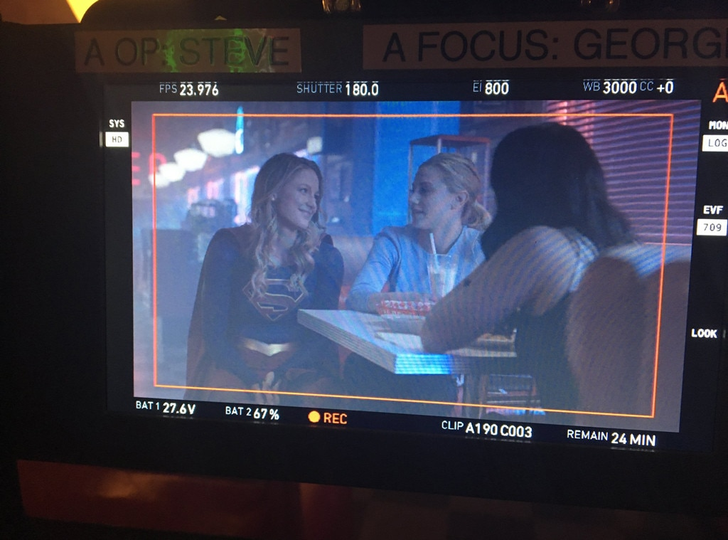 Supergirl Visits the Set of
