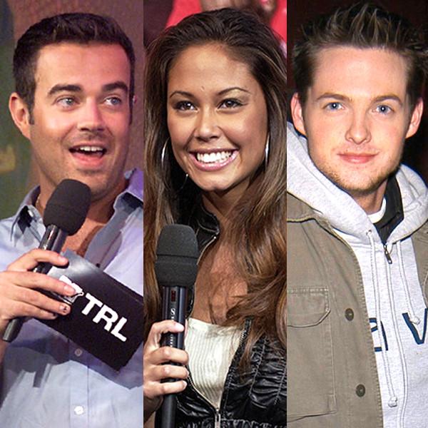 MTV VJs, Carson Daley, Damien Fahey, Vanessa Lachey