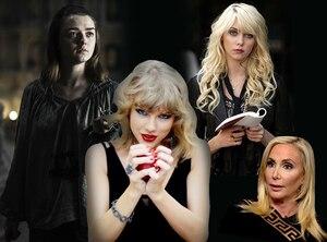 Taylor Swift, Arya Stark, Jenny Humphrey, Shannon Beador