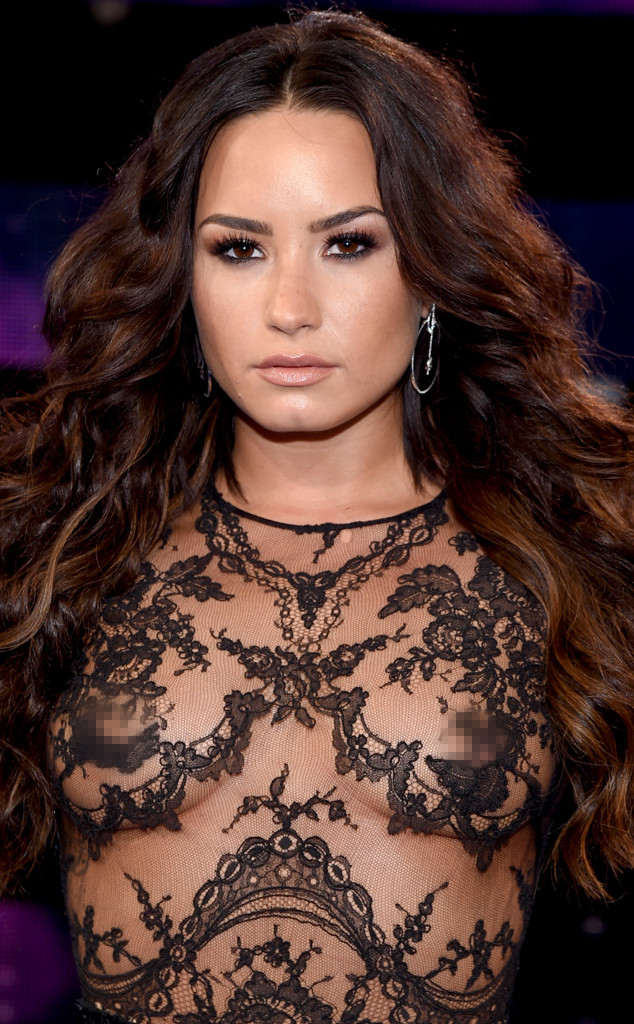Demi Lovato Frees Her Nipples in Daring Ensemble at the