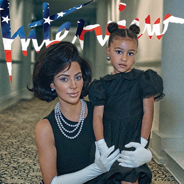 Kim Kardashian & North West's <i>Interview</i> Cover Spread