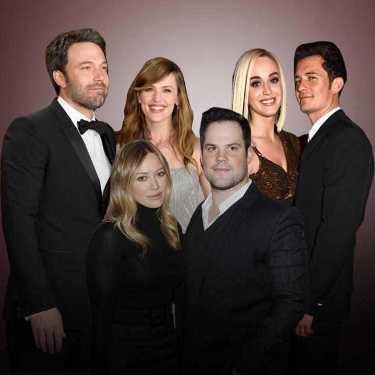 Celebrity Exes, Jennifer Garner, Ben Affleck, Katy Perry, Orlando Bloom, Hilary Duff, Mike Comrie