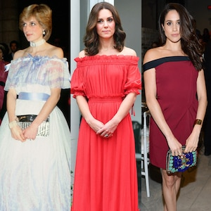 Princess Diana, Kate Middleton, Meghan Markle