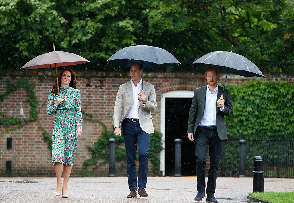 Kate Middleton, Prince William, Prince Harry, White Garden