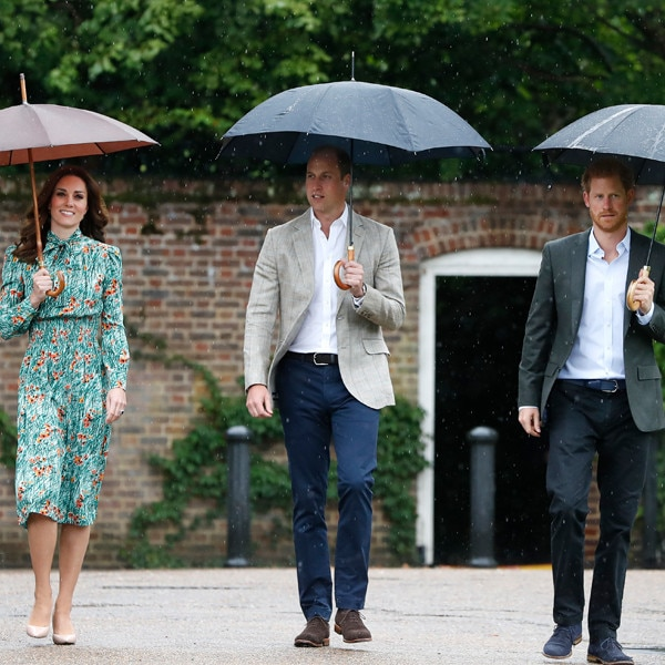 Prince William, Prince Harry and Kate Middleton's White Garden Visit