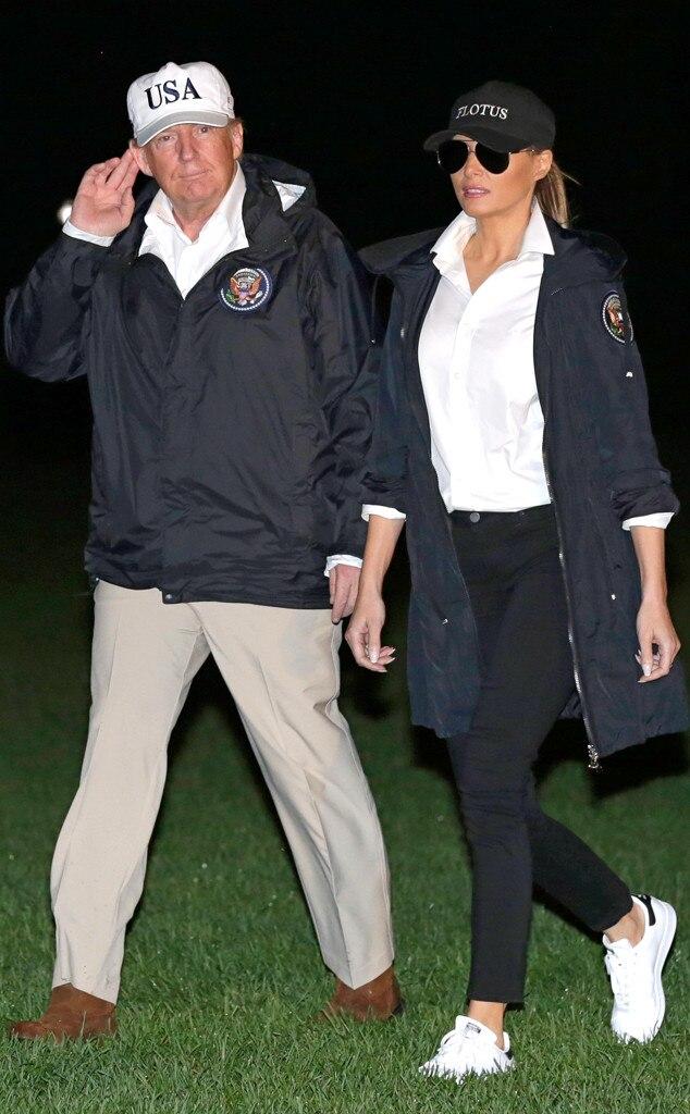 Donald Trump, Melania Trump, Hurricane