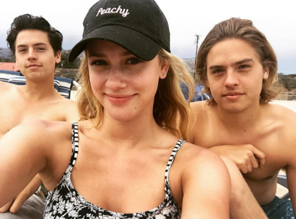 Lili Reinhartt, Cole Sprouse, Dylan Sprouse, Instagram