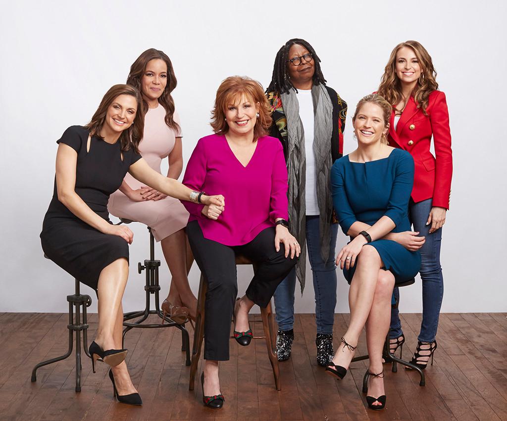 The View, Sara Haines, Jedediah Bila, Whoopi Goldberg, Paula Faris, Joy Behar, Sunny Hostin