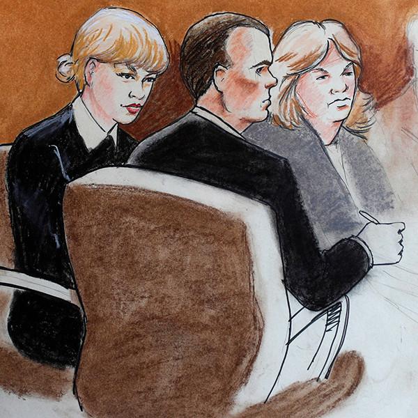 Taylor Swift vs David Mueller Trial Sketch