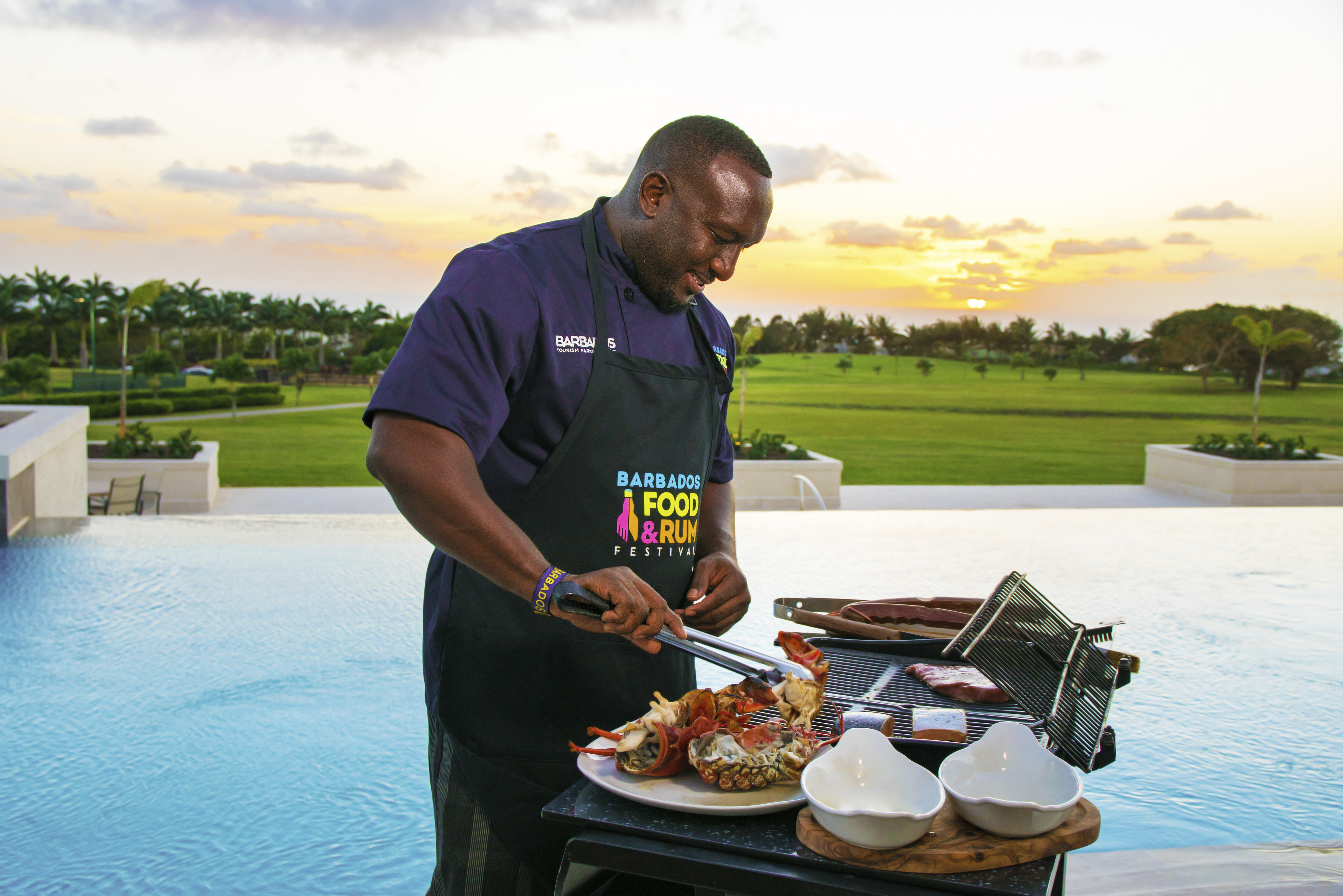 Barbados Guy on Grill