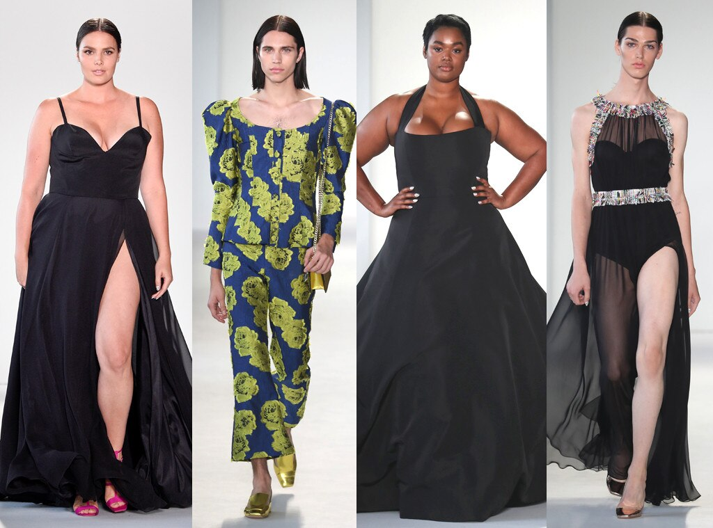NYFW, Christian Siriano, Models, Avie Acosta, Austin Kairis, Precious Lee, Candice Huffine