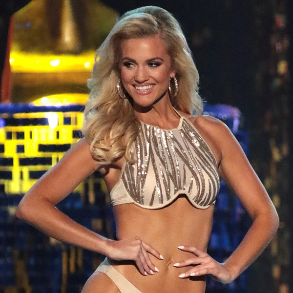 Miss America victor leaves little to the imagination in TINY bikini round