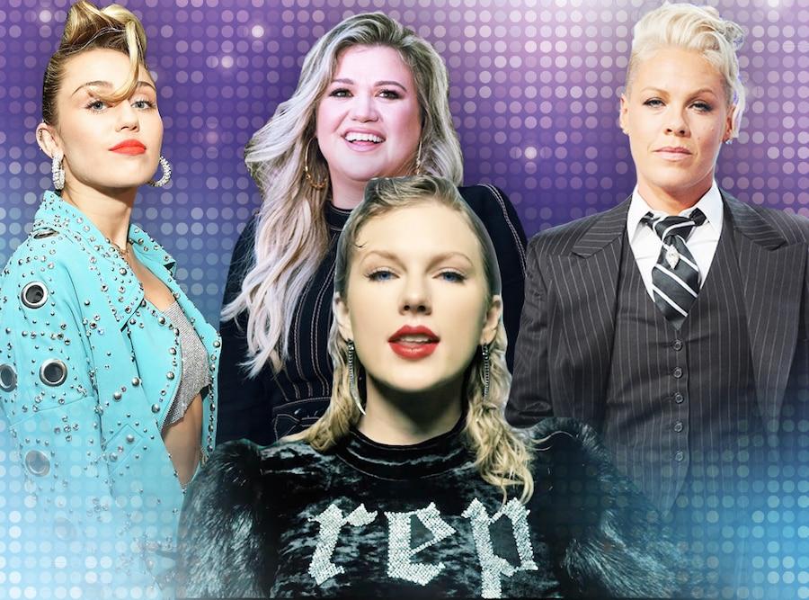 Miley Cyrus, Kelly Clarkson, Pink, Taylor Swift, Pop Divas Reinvention