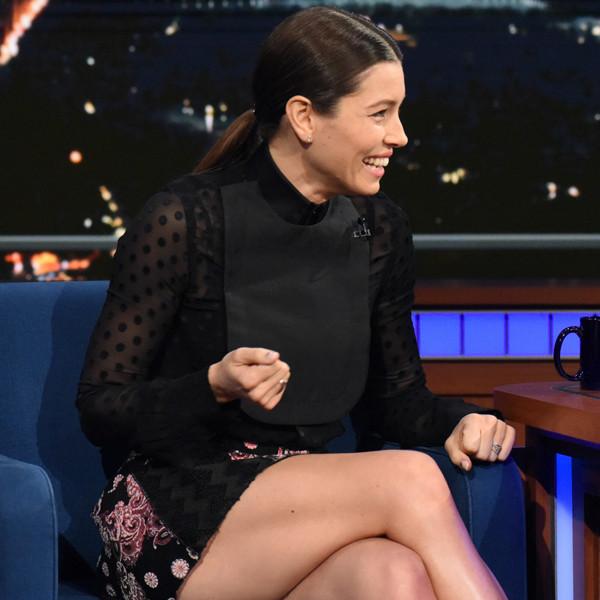 Jessica Biel, Stephen Colbert, The Late Show