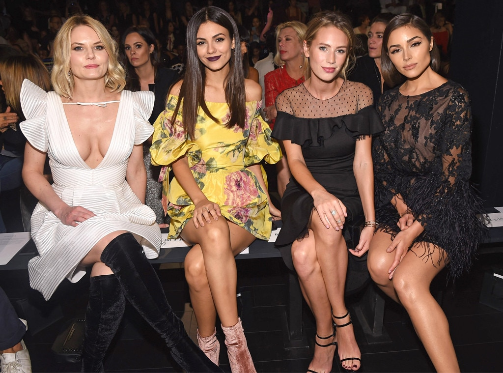 Jennifer Morrison, Victoria Justice, Dylan Penn & Olivia Culpo, 2017 New York Fashion Week