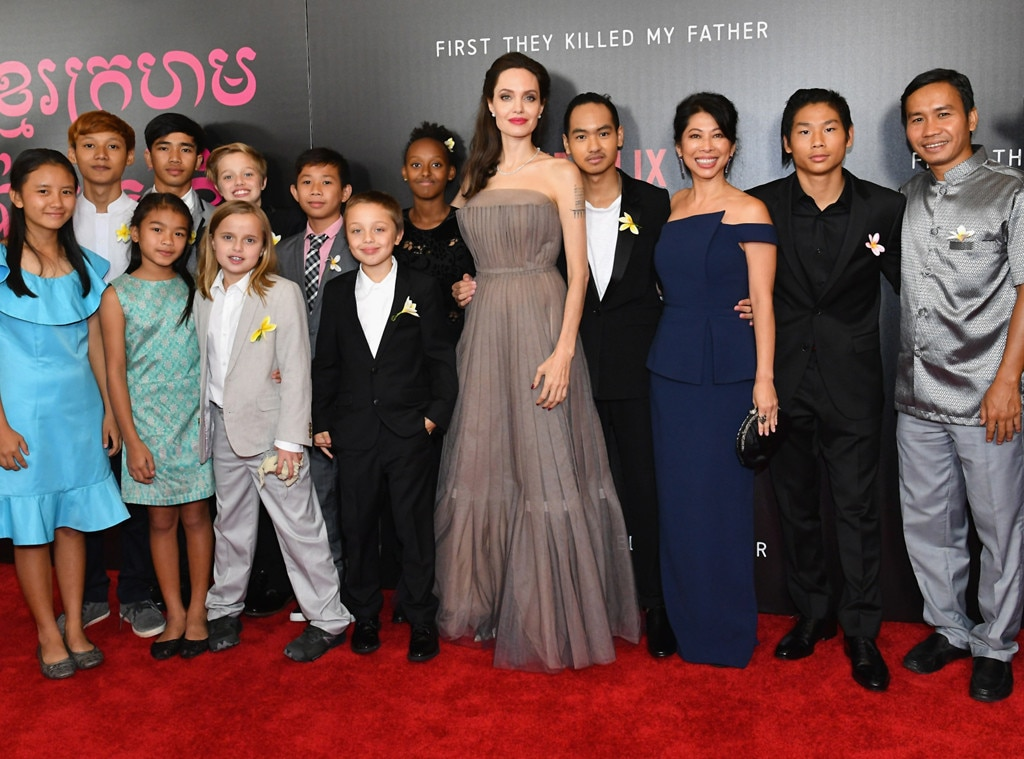 Angelina Jolie, Cast of 'First They Killed My Father', NYC Premiere