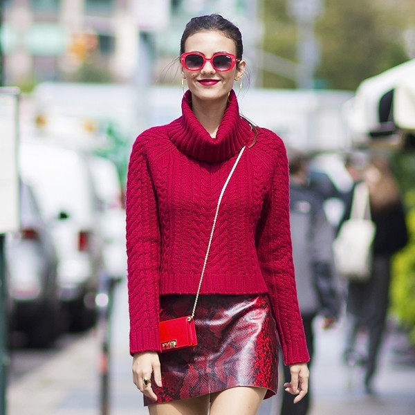 Victoria Justice's Fall Skirt Style