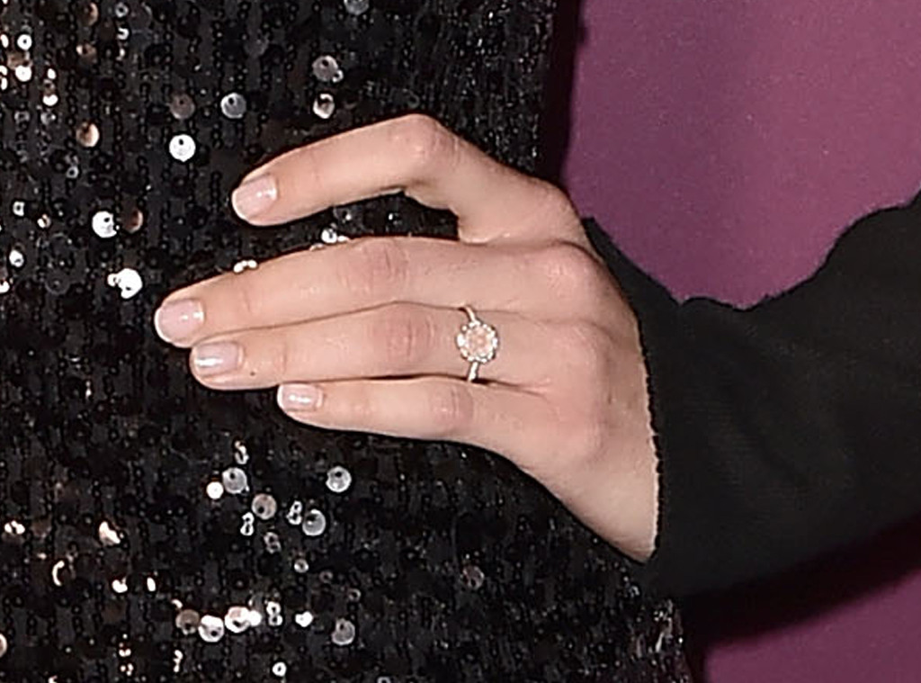 Mandy Moore, Emmy Party, Engagement Ring