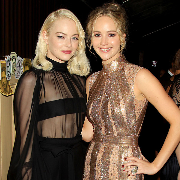 Image result for Jennifer Lawrence and Emma Stone