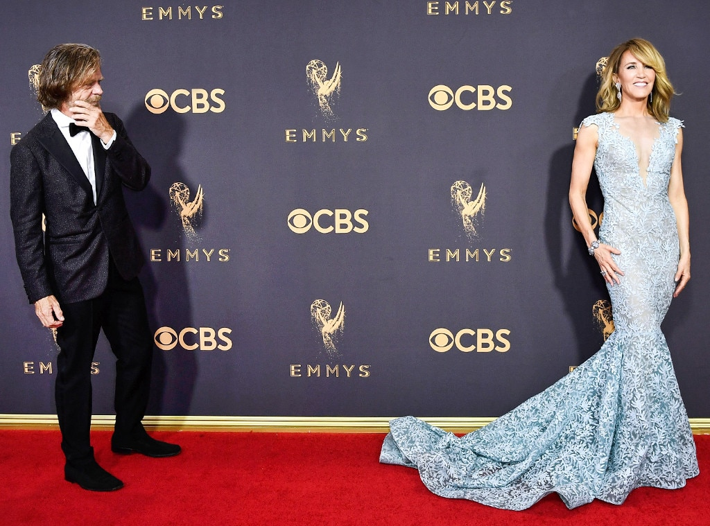 William H. Macy, Felicity Huffman, 2017 Emmy Awards, Arrivals, Candids