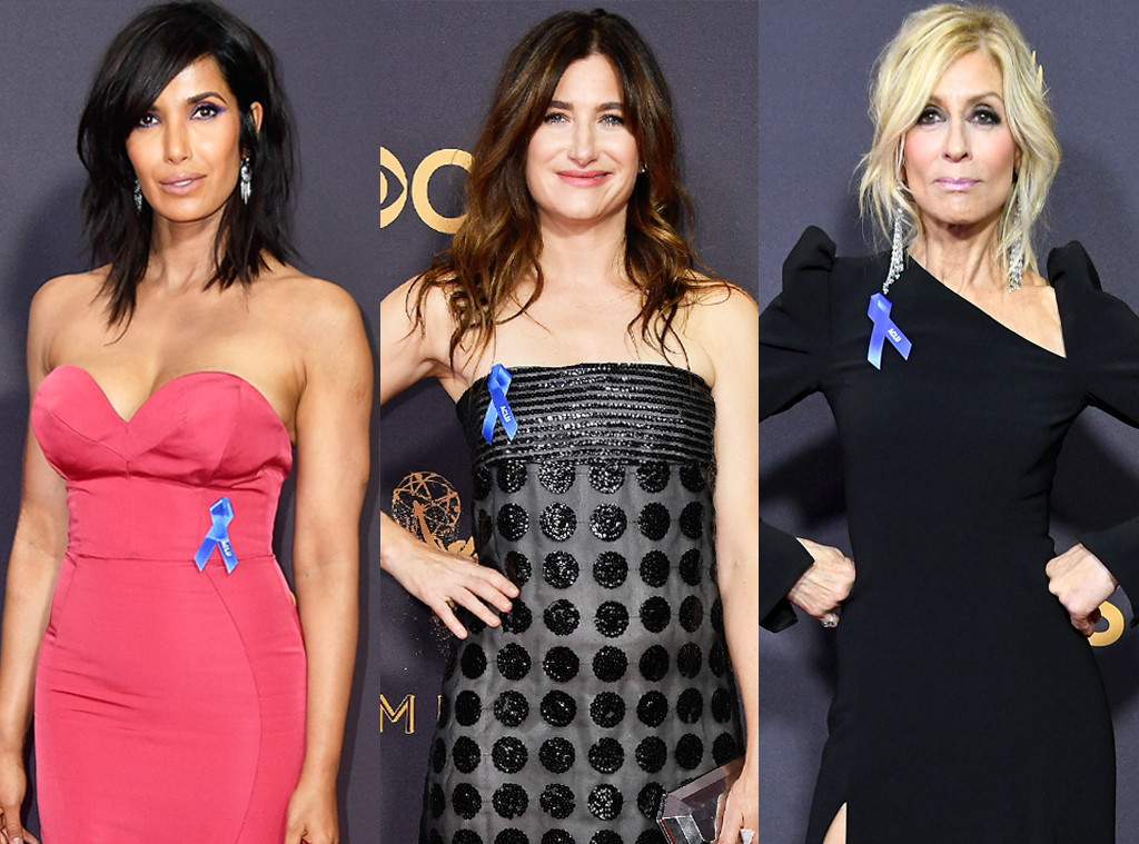Kathryn Hahn, Padma Lakshmi, Judith Light, 2017 Emmy Awards, Blue Ribbon