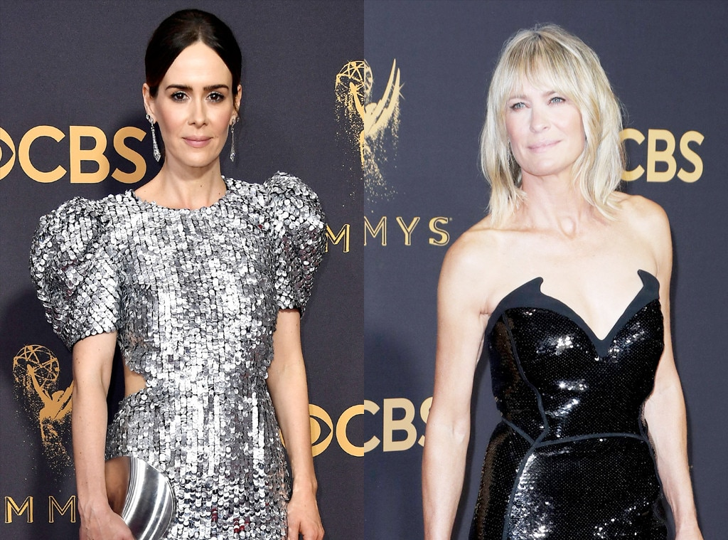 Sarah Paulson, Robin Wright, 2017 Emmy Awards, Arrivals