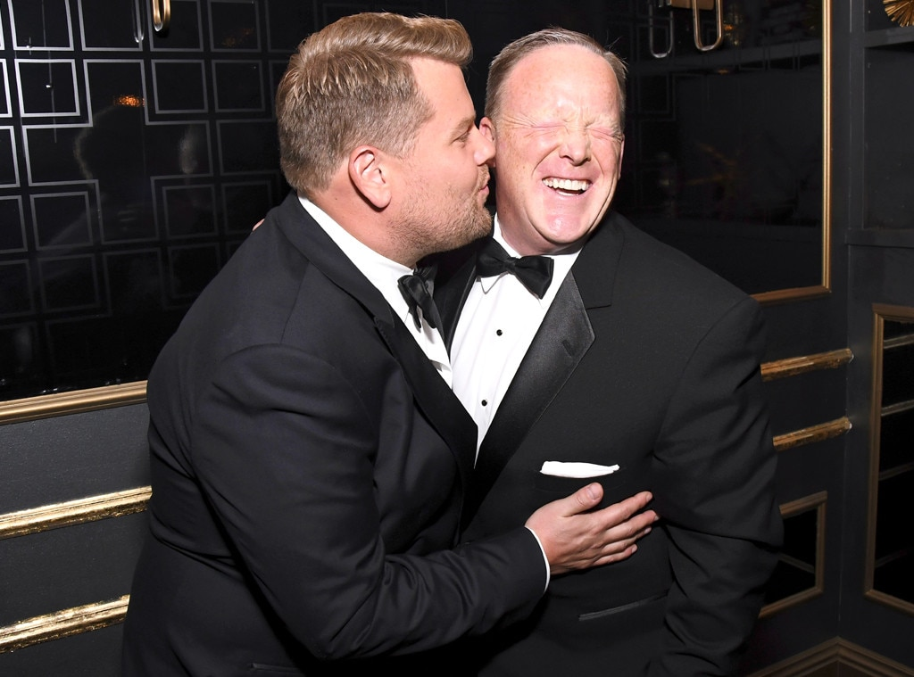 James Corden, Sean Spicer, 2017 Emmy Awards, Candids