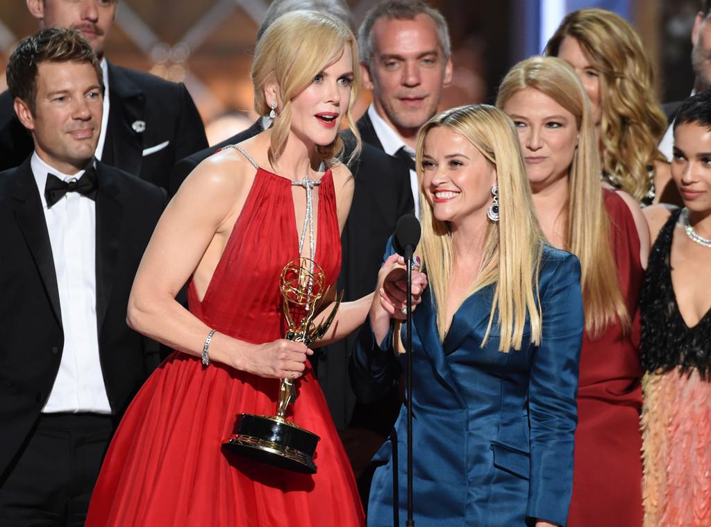 Nicole Kridman, Reese Witherspoon, Big Little Lies, 2017 Emmy Awards, Winners