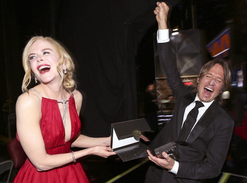 Keith Urban, Nicole Kidman, 2017 Emmys, Candids