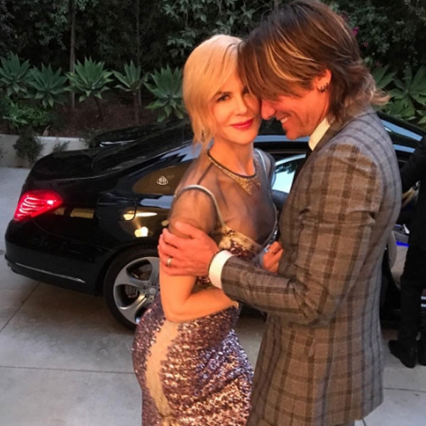 Keith Urban and Nicole Kidman from Emmys 2017: Instagram ...