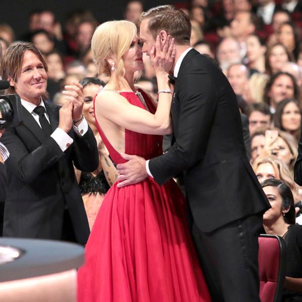 Nicole Kidman Gets Flustered Addressing <i>That</i> Emmys Kiss With Alexander Skarsg&aring;rd