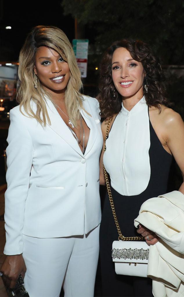 Laverne Cox, Jennifer Beals, Emmy Party Pics 2017