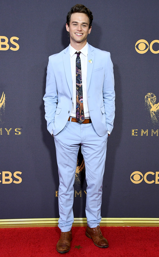 Brandon Flynn, 2017 Emmy Awards, Arrivals