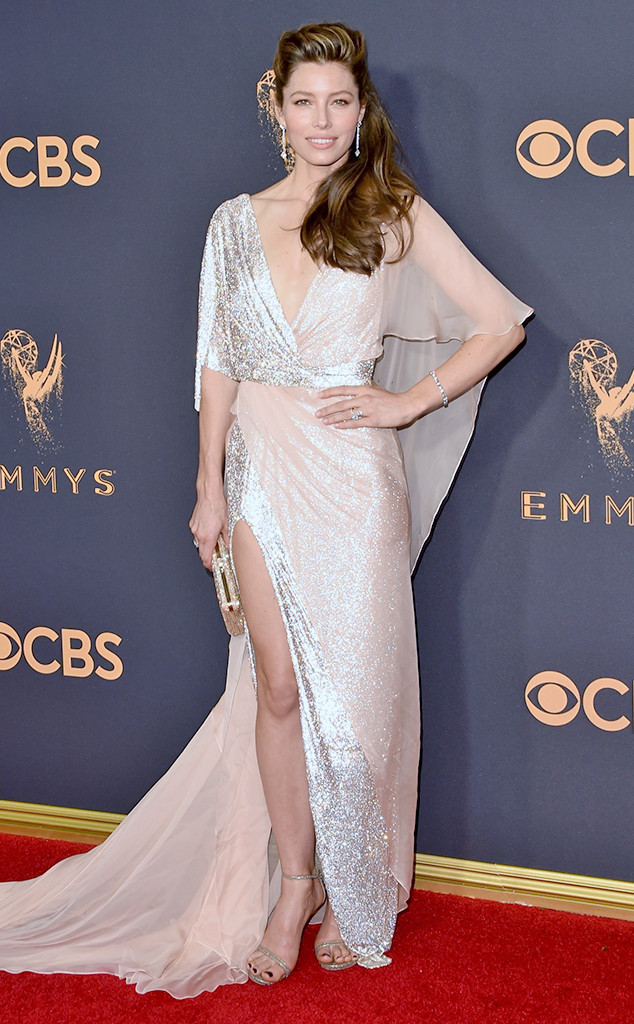 Jessica Biel , 2017 Emmy Awards, Arrivals